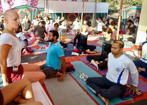 Starting a yoga class