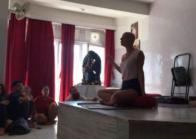 Yoga Lecture at the Yoga Festival, in Rishikesh, India