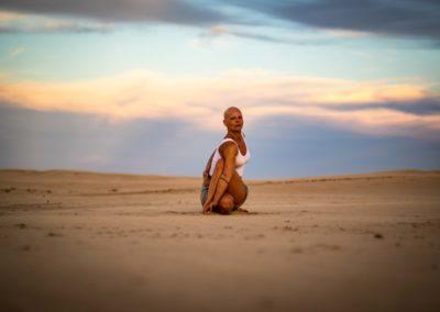 Yoga Matsyendrasana, em Jeffreys Bay