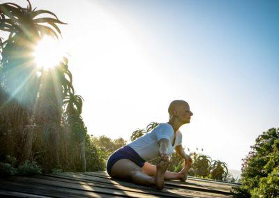 Yoga Upavista Konasana em Jeffreys Bay