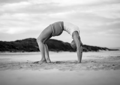 Yoga Urdva dhanurasana in jeffreys bay