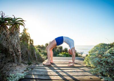 Yoga Urdva dhanurasana em jeffreys bay