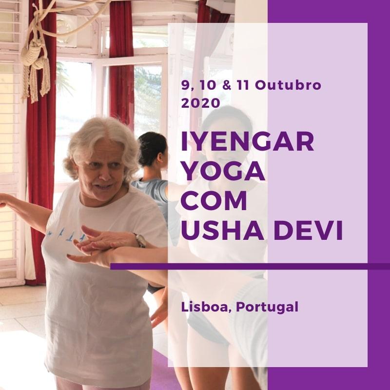 Iyengar yoga com Usha Devi em Lisboa