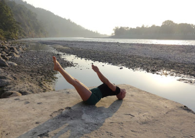 Yoga Uttana Padasana in Rishikesh