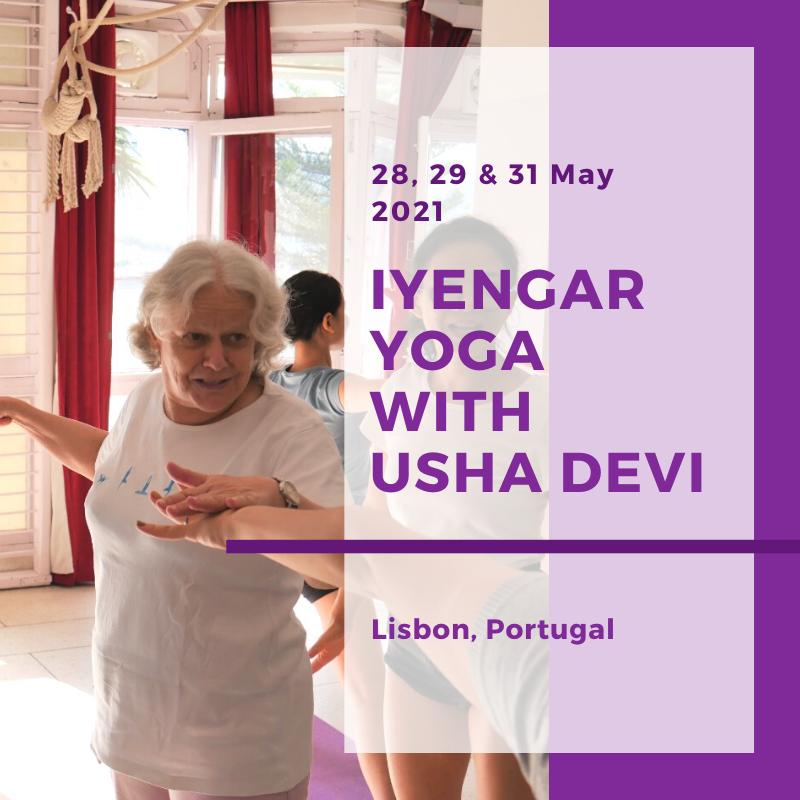 Iyengar yoga with Usha Devi in Lisbon