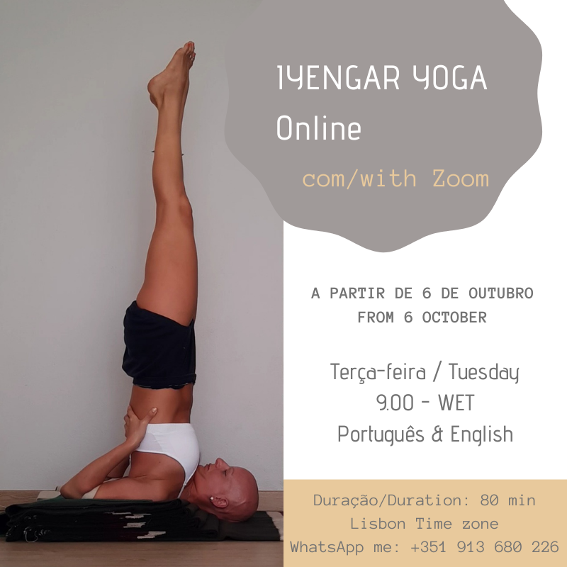 Online yoga classes via Zoom